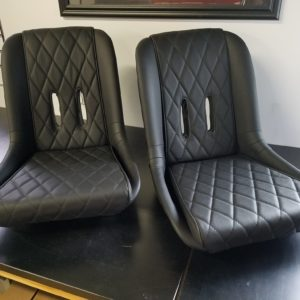 Set of Leather Spyder or Speedster Seats with Single Diamond Stitch